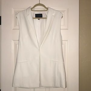 white Banana Republic vest